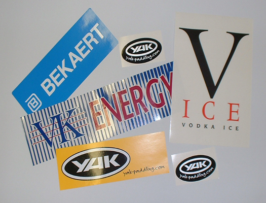 SELECTION OF COMPANY LOGO STICKERS