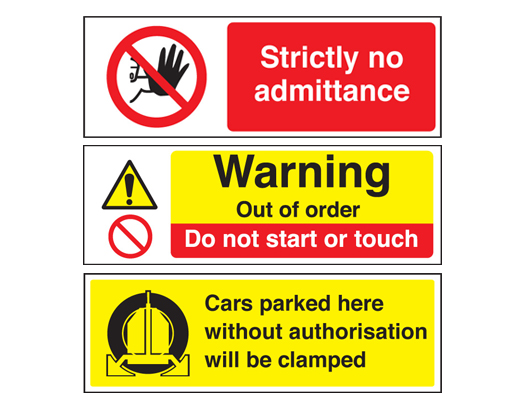 RESTRICTED ACCESS and WARNING SIGNS
